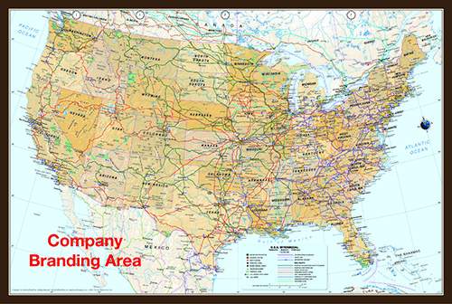 USA Intermodal Map