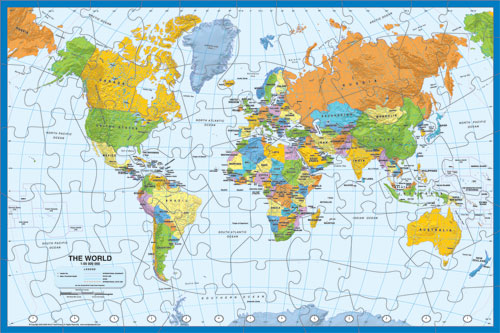 Map Puzzle Specialty Item